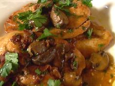 Chicken Marsala Recipe : Tyler Florence : Food Network (leave out prosciutto) Tyler Florence Chicken Marsala, Tyler Florence Recipes, Pineau Des Charentes, Food Network Recipes, Cooking Recipes, Meal Recipes, Chef Recipes, What's Cooking, Prosciutto