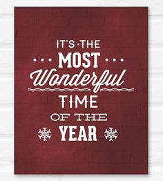 Most Wonderful Time Holiday Print