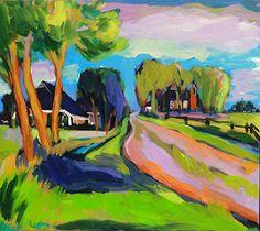 Roze-weg-kerkje-Oostum-80-x-90-cm-acryl-op-doek-Antje-Sonnenschein.jpg 360×321 pixels
