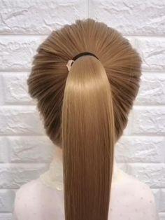 Hairdo For Long Hair, Bun Hairstyles For Long Hair, Braided Hairstyles, Front Hair Styles, Medium Hair Styles, Hair Upstyles, Hair Videos, Hair Hacks, Hair Makeup