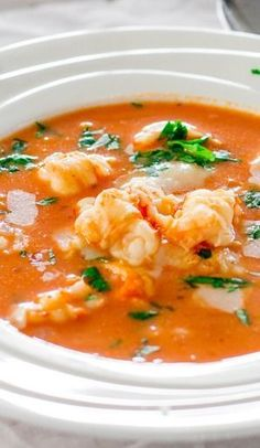 Brazilian Shrimp Soups with- I would replace coconut milk. ( as to high in saturated fat)