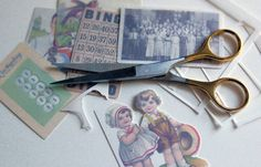Downloaded images printed on shrink plastic then turned into charms, jewelry, etc.  Darling!