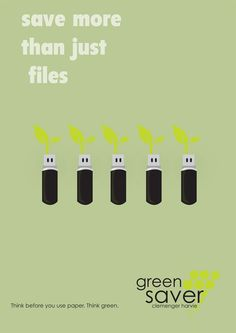 Urban Growth: 'Green Savers' - Eco-posters by Simon Dall