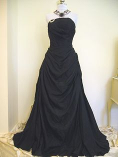 Harvey Berin, 1950's strapless black evening gown