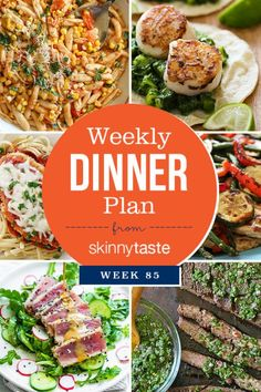 Skinnytaste Dinner Plan (Week I've added new recipes from last week plus a mix of some older favorites. Have a great week! Skinnytaste Dinner Plan (Week Monday: Summer Cavatelli with Corn, Tomatoes Clean Eating Recipes, Healthy Eating, Healthy Recipes, Healthy Meals, Diabetic Recipes, Seared Tuna Salad, Balsamic Grilled Chicken, Weight Watchers Meal Plans, Eat Seasonal