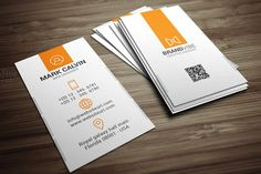 Simple Clean Corporate Business Card by Arslan on Creative Market