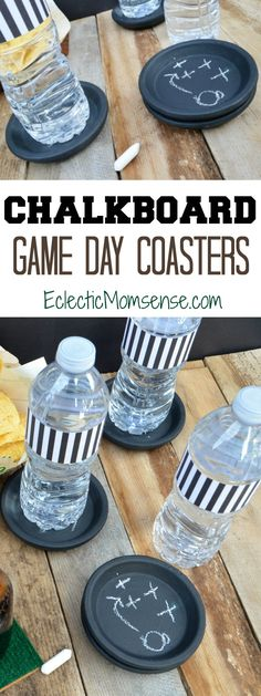 Chalkboard Coasters | Host a winning game day gathering with these easy coasters!