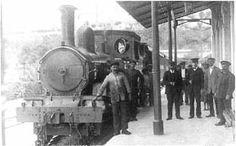 The train in Mtarfa Station.