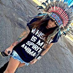 Jac Vanek// Whiskey// Tee// Headdress// Bohemian Rock n Roll Boutique – Wildflowerli.com