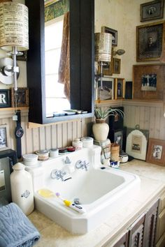 antique sink on DesignSponge