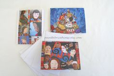 Strength in Being Woman Note Card Set by PaintFabricWhimsy on Etsy