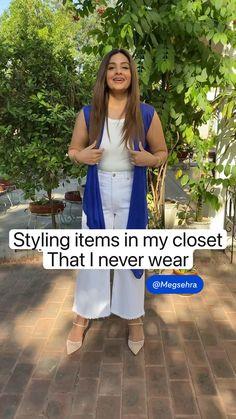 Diy Clothes Life Hacks, Clothing Hacks, Stylish Dress Designs, Stylish Dresses, Diy Fashion Hacks, Ways To Wear A Scarf, Indian Fashion Dresses, Diy Dress, Fashion Sewing