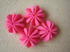 4PCS  Mini Coral Cabochons  Resin  Honeysuckle Pink  by ZARDENIA, $2.40