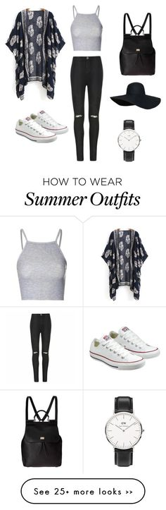 """""""My First Polyvore Outfit"""" by fanny-3333 on Polyvore featuring Glamorous, Ally Fashion, Converse, Dolce&Gabbana and Daniel Wellington"""