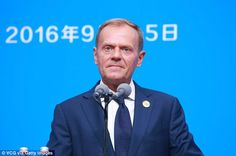 Donald Tusk delivered the stark warning at the G20 summit in China today