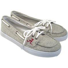 Grey Kauai Women's Alabam Crimson Tide Boat Shoes