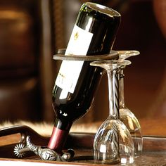 Horseshoe and stirrup Metal Wine Bottle Holder