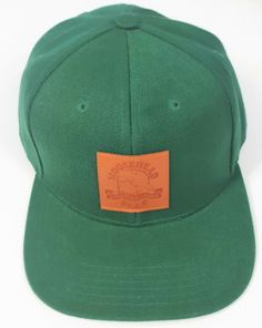 49de564c29a Moosehead Canadian Lager Beer Leather Patch Green Snapback Hat Trucker Cap