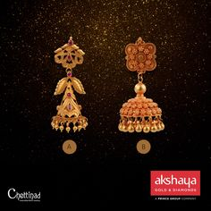 Which one will be your choice for this Onam celebration? Visit our showroom for more trendy collections. #akshayagold #earrings #gold #onam