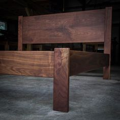 "Customization: Add 2"", 4"", 6"" or 8"" to the Headboard on Any of Our Simple Bed Frames With Headboards by MountainMuleHardwood"