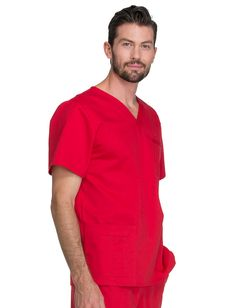Cherokee WorkWear Core Stretch Unisex V-Neck Scrub Top #MensScrubs #Scrubs #Scrub