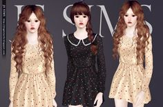 Lace Collar Dress by JS Sims3 - Sims 3 Downloads CC Caboodle this is what I wanted sims 4 to look like