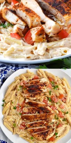 This Creamy Cajun Chicken Pasta comes together so fast! This easy chicken dinner recipe is the perfect combo of spicy and creamy! You will love every single thing about this recipe, from how easily it comes together, to how delicious and comforting it is Fast Dinner Recipes, Easy Chicken Dinner Recipes, Lunch Ideas With Chicken, Taco Ideas For Dinner, Bbq Chicken Side Dishes, Meals With Chicken, Light Dinner Ideas, Easy Meals For Dinner, Chicken Dishes For Dinner