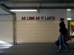 Lawrence Weiner - As Long as it Lasts (2011) - Central Station, Rotterdam