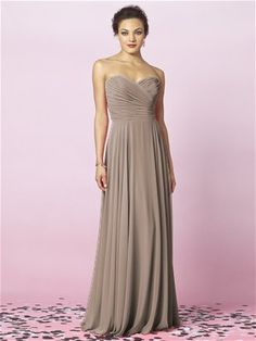 After Six - Bridesmaid Dress Style 6639; in Topaz, Taupe, Sugar Plum or Aubergine