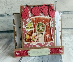 Helz Cuppleditch - Winter Woodland Christmas stepper card by Maxine