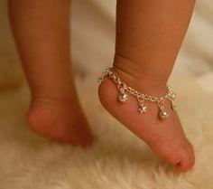 Sterling Silver Jingle Bells & Stars Anklet  by danitaapple, $38.00