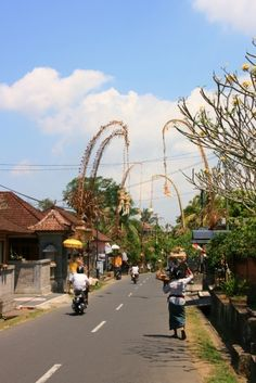 The Colours of Bali: A street in Ubud