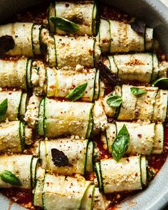 Zucchini involtini with almond ricotta is a rustic, beautiful, and delicious main course that's naturally vegan and grain-free.