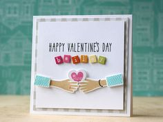 Personalized Valentine's Day Card by Laura Bassen for Papertrey Ink (December 2014)
