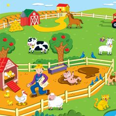 farm 3rd Birthday Parties, Fabric Painting, Cool Artwork, Farm Animals, Family Guy, Kids Rugs, Education, Infants, Game