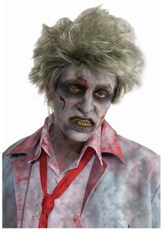 Stop, before you rub dirt, gravel, and rocks into your locks, consider a Grave Zombie Wig. In one, two, three, you'll have a look that screams reanimated creature. Who knew transforming into a flesh eating monster could be so easy? Really...who knew?