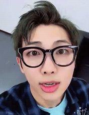 Hehe he looks so cute in glasses!