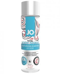 JO TOTAL BODY SHAVE is an anti-bump formula designed to provide both a soothing and moisturizing shave experience. The thick gel provides a luxurious cushion; durable enough for the entire body, but delicate enough for intimate areas. Simply apply gel to moist or wet skin and lather for best results. CITRUS BURST INGREDIENTS: Water (Aqua), Sodium Laureth Sulfate, Acrylates Copolymer, Glycerin, Cocamide MEA, Polyquaternium-7, Sodium Hydroxide, Limonene, Benzyl Benzoate, Benzyl Alcohol…