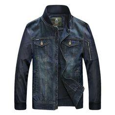 New Men's Clothing Retro Denim Jackets Mens Jeans Jacket & Coats Casual Jackets Brand Hip Hop Multi-Pocket Patchwork Denim Coat Denim Jacket Fashion, Denim Jacket Men, Denim Coat, Denim Outfit, Denim Jackets, Stylish Jackets, Casual Jackets, Jeep, Fall Jeans
