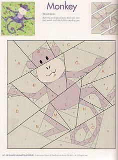 Блоки- Зверушки для лоскутного шитья.. Комментарии : LiveInternet - Российский Сервис Онлайн-Дневников