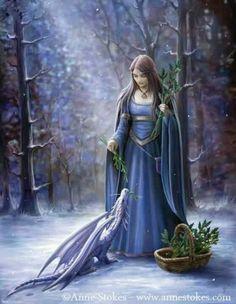 """ Solstice Gathering"" Anne Stokes fantasy art"