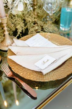 Modern Myth in 2020 Simple Elegant Wedding, Simple Weddings, Chic Wedding, Floral Wedding, Wedding Ideas, Wedding Place Settings, Wedding Place Cards, Event Planning Design, Event Design