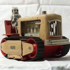 Vintage Rare Retro Japan Toy Tin Toys Space 1950 robot Tractor