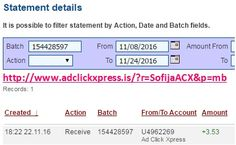 Here is my #91 Withdrawal Proof from Ad Click Xpress. I get paid daily and I can withdraw daily. Online income is possible with ACX, who is definitely paying - no scam here. I WORK FROM HOME less than 10 minutes and I manage to cover my LOW SALARY INCOME. If you are a PASSIVE INCOME SEEKER, then AdClickXpress (Ad Click Xpress) is the best ONLINE OPPORTUNITY for you. Join for FREE and get 20$ + 10$ + 5$ Monsoon, Ad and Media value packs from ACX.