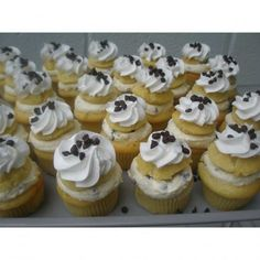 This is my next cupcake flavor - Chocolate Chip Canolli... It will look almost just like these... yummo!