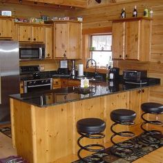Custom Kitchen Cabinets With Regard To Delightful Pine Kitchen Cabinets Picture Knotty Pine Kitchen, Kitchen Cabinet Interior, Kitchen Cabinets For Sale, Rustic Kitchen Cabinets, Rustic Kitchen Design, New Kitchen, Kitchen Ideas, Kitchen Designs, Awesome Kitchen
