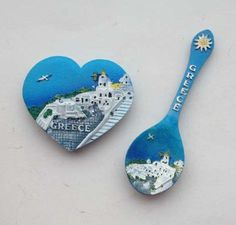 >> Click to Buy << Greece Santorini Creative Spoon 3D Fridge Magnet  World Travel Souvenirs Home Decoration Refrigerator Magnetic Stickers #Affiliate