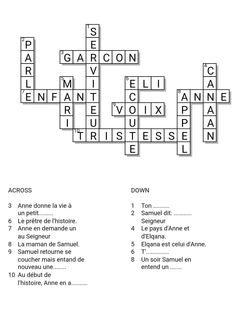 This is a crossword puzzle to go along with chapter 3B in