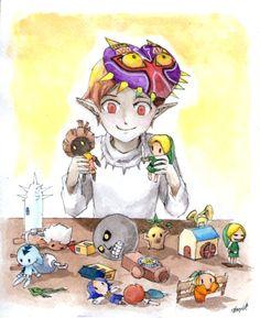 "zeldaartforyou: "" LoZ - Majora's game by ~Mitsuyuki32 ""To him, everything in our world is just a game."" -Majora's Mask manga """