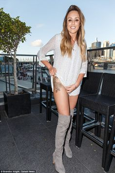 Not shy! Geordie Shore's Charlotte Crosby launched her brand new clothing line - caled Nos...